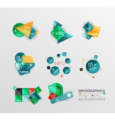 Set of geometric abstract shape infographic vector