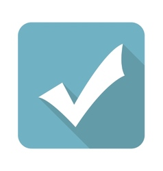 Square tick mark icon vector