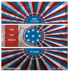 Set of three banners in the us national flag vector