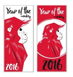 Chinese new year monkeys vector