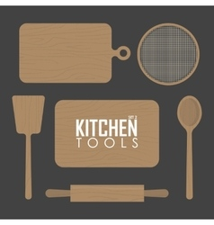Kitchen boards and wood tool vector