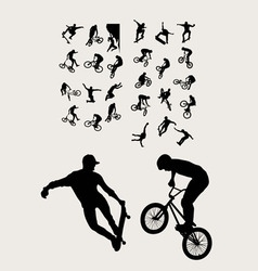 Bike and extreme sport vector