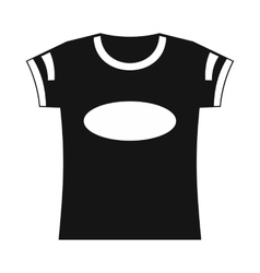 Black t-shirt template icon simple style vector image