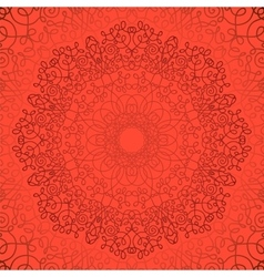 Circle lace ornament geometric doily pattern vector