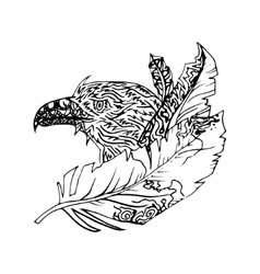 Abstract graphic eagle print vector