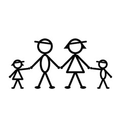 Baseball stick family vector