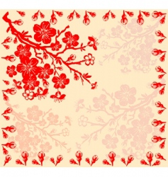 branch of the cherry blossoms vector image vector image