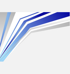 Bright blue tech abstract stripes background vector