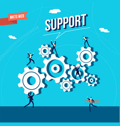 Business marketing web support vector