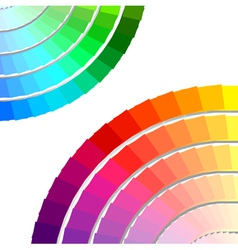 Color spectrum palette vector