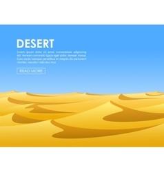 Desert lanscape vector