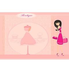 Elegant shopping woman vector image