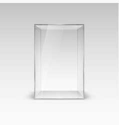 empty glass showcase for presentation with vector image
