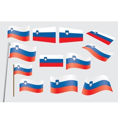 flag of Slovenia vector image vector image
