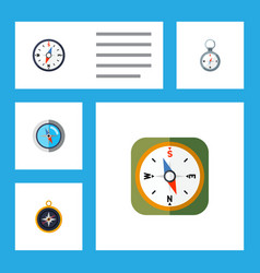 flat icon orientation set of direction compass vector image vector image