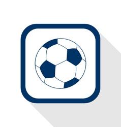 football flat icon vector image