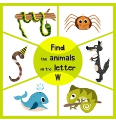 Funny learning maze game find all 3 of cute wild vector