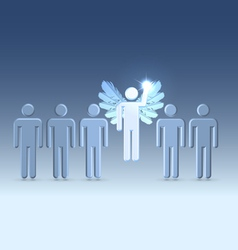 Idea that gives wings vector image