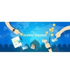 islamic finance economy islam banking money vector image vector image