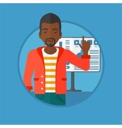 Man giving business presentation vector