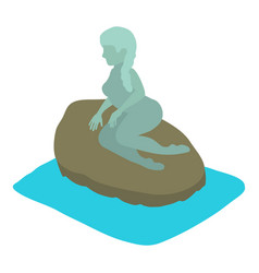 mermaid icon isometric style vector image vector image
