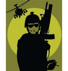 military poster vector image vector image