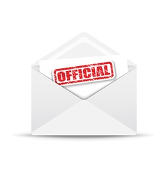 official white envelope vector image vector image