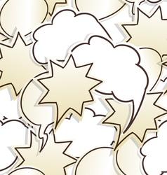 Paper speech clouds vector image vector image