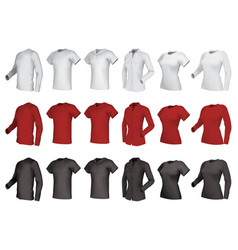 polo shirts and t-shirts set vector image vector image