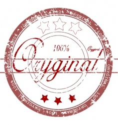 rubber stamp 'original' vector image