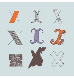 Set of colorful alphabet letters x vector