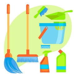 Set of stuff for cleaning vector