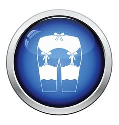 Sex stockings icon vector