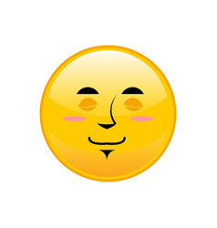 sleeping emoji isolated asleep yellow circle vector image vector image