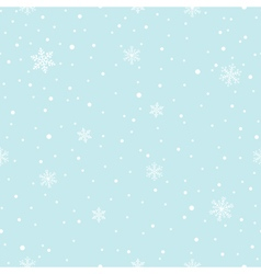 Snowflakes falling seamless pattern vector