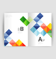 Square annual report brochure a4 print template vector