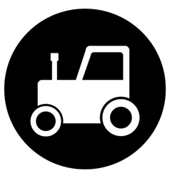 Tractor button vector image