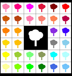 tree sign felt-pen 33 vector image vector image