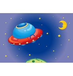 UFO spaceship vector image vector image