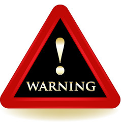 warning sign icon vector image