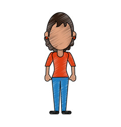 woman faceless avatar vector image vector image