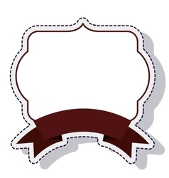 frame ribbon isolated icon vector image