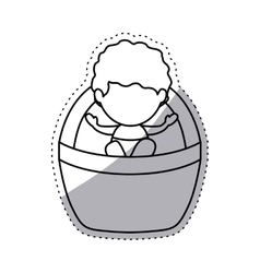 Isolated baby jesus design vector