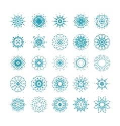 Set of ornamental snowflakes vector