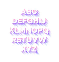 Modern holidays party alphabet vector