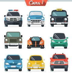 Car icon set 1 vector image