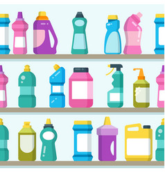 Household goods and cleaning supplies on vector