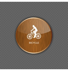 Bicycle wood application icons vector