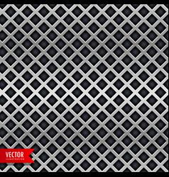 Diamond shape chrome metal texture background vector