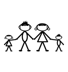 Football stick family vector